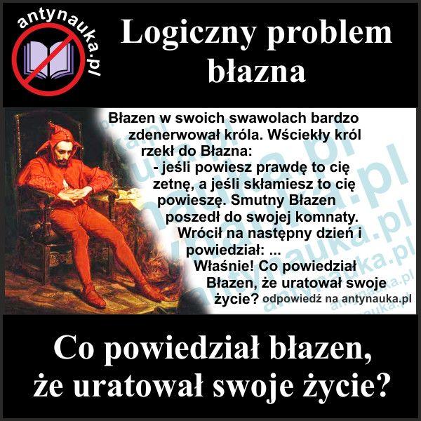 Logiczny problem zagadka błazna