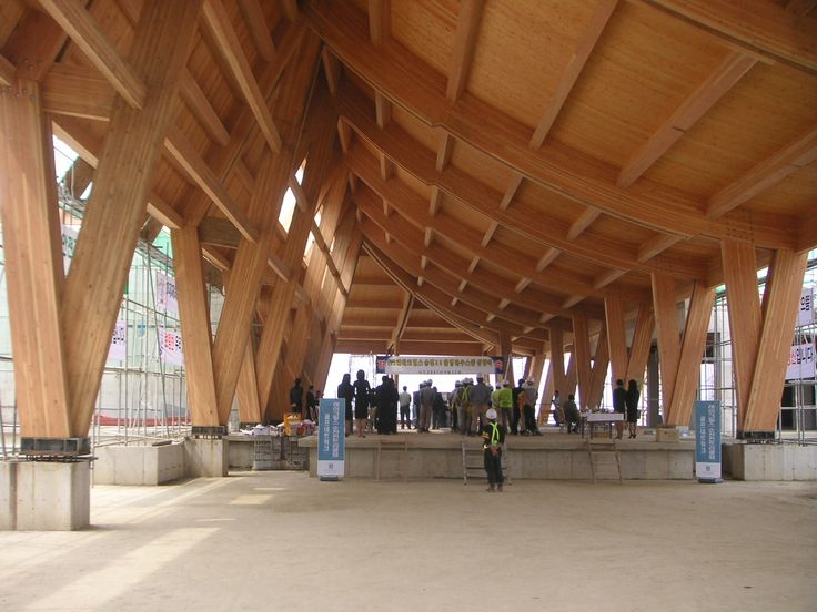 Lake Hills Country Club in Suncheon, South Korea. Douglas Fir glulam. Completed in 2007 by Walsh Industries.