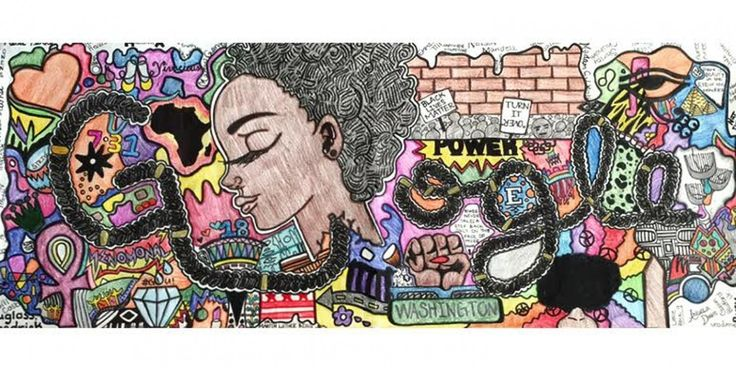 "Today's winning Google Doodle invoking Black Lives Matter was designed by high school sophomore | Washington Post | ""Akilah, a sophomore at Eastern Senior High School in Northeast Washington, has just been named Google's big winner in the national contest, topping the 53 state and territory champions, whose work had been culled from about 100,000 student entries."" Click to read and share the full article."