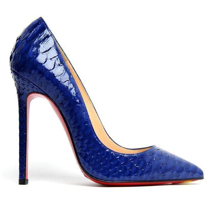 sandales louboutin bleu