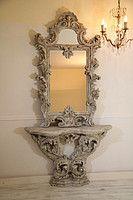Винтажное зеркало с консолью Lu51