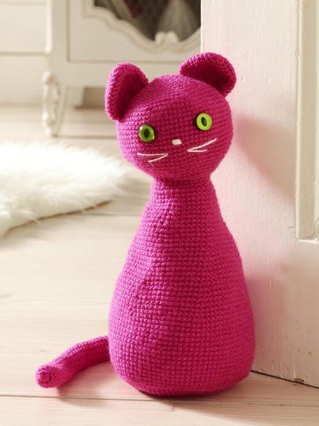 Masche für Masche zum neuen Haustier: So einfach stricken Sie sich diese süße Katze.Die Abkürzungen auf einen Blick:re.: Rechtsli.: