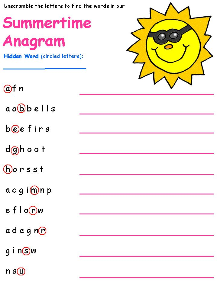 ... Children's Puzzle Worksheets on Pinterest | Maze, Crossword and Words