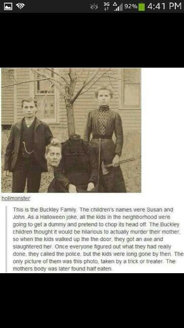 THIS IS NOT REAL! This is just a GREAT ghost story with a wonderful photo to go along with. Just to clear up confusion, here is the true story behind this from Snopes: http://www.snopes.com/photos/gruesome/halloween.asp  ;)