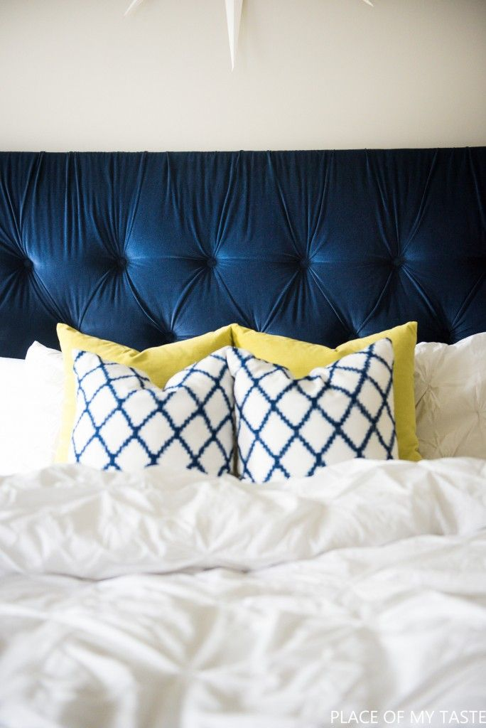 I will show you how to make an easy tufted headboard. Have you ever wondered how to make those deep, diamond tufted headboards? Look no further!