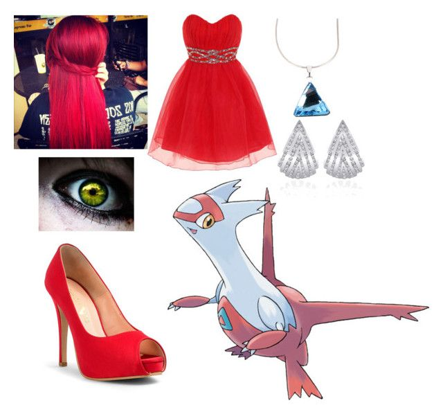 """Pokemon - Latias"" by queen-taylor-brie ❤ liked on Polyvore featuring Dorothy Perkins, Otazu and SEN"