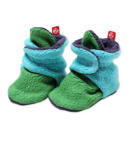 New Zutano color block baby booties. All three styles are so cute!