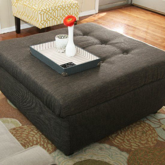 Turn an ugly coffee table into a beautiful tufted ottoman following these  easy steps!