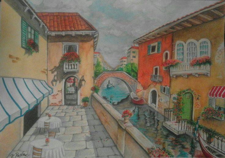 Una calle di Venezia..