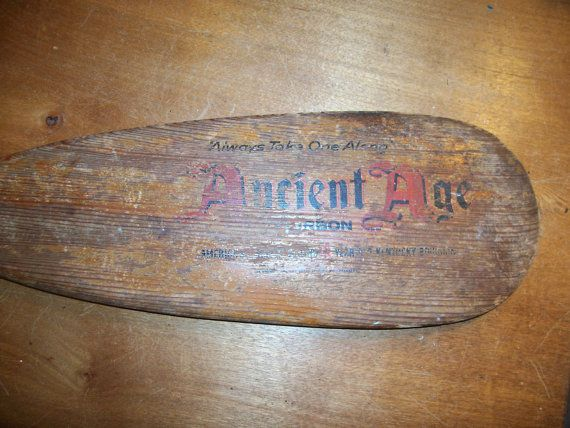 Wood oar Ancient Age Bourbon Bar sign Ky  by rustyitems on Etsy, $45.00