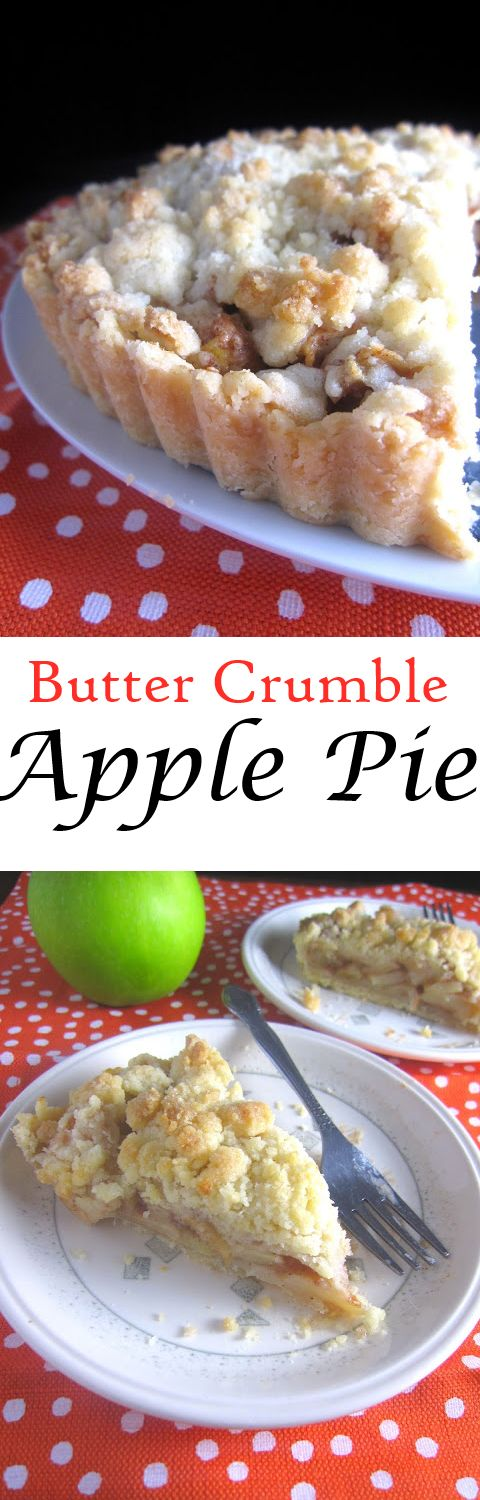 Butter Crumble Apple Pie. So easy to make, this is my favorite apple pie recipe!