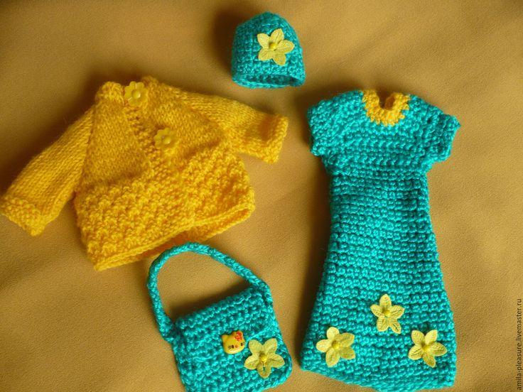 Купить Одежда для кукол (комплект Весенний) - одежда для кукол, одежда для барби, вязаная одежда для барби