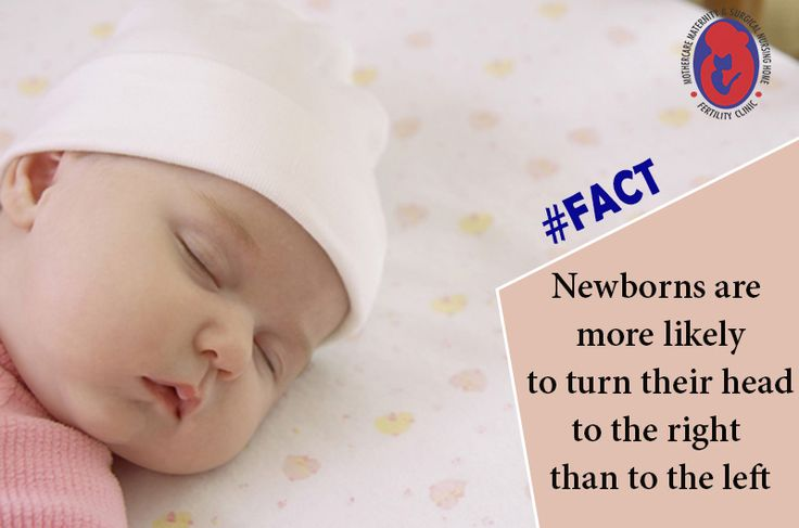 #Newborns are more likely to turn their #head to the right than to the left