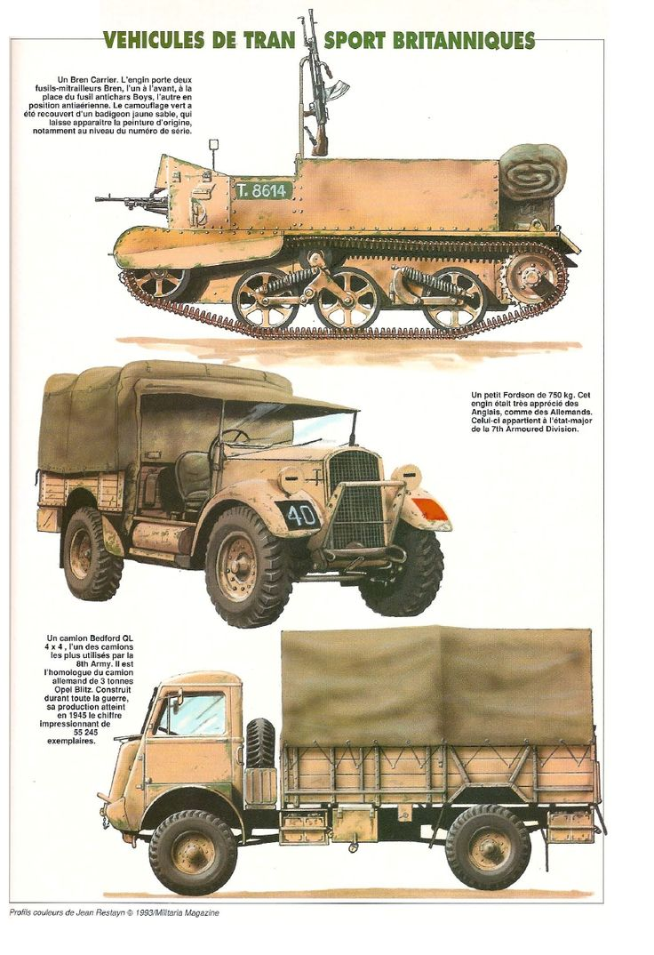 8th Army vehicles
