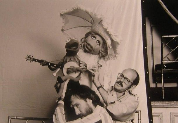 Jim Hanson and Frank Oz w/ Kermit and Miss Piggy Pictures of Behind the Scenes with the Muppets, c.1970s