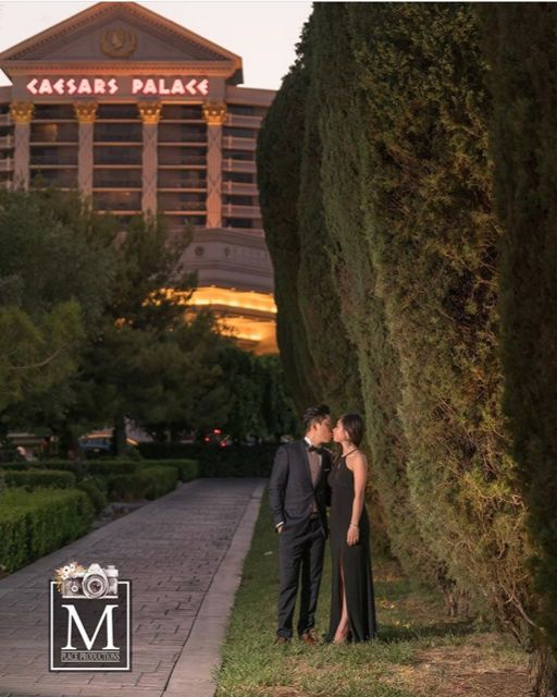This photo by #mplaceproductions  is taken in the park in front of Caesar's Palace...a lovely place for an intimate wedding or photoshoot. #weddingvowslasvegas #caesarspalaceweddings #turningyourpromisesintoalifetime #weddingvowslasvegaselopements #lasvegasweddingofficiant
