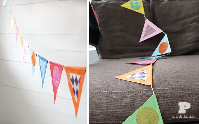 DIY Tissue Paper Garland, Pysselbolaget