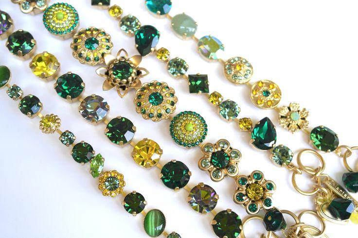 Mariana Jewelry Bracelets in Emerald Green Colors 787YG