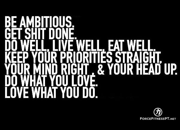 Ambition, Fitness, Health, Wellness, Eat Well, Diet, Prioritize, Mindset, Mindfulness, Positivity, Confidence, Work, Hard Work, Personal Training, Love, Self Love, Appreciation, Grind