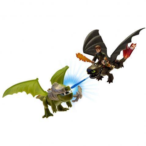 Jak vycvičit draka - Hrací sada figurek, Bezzubka Škyťák a obrněný drak