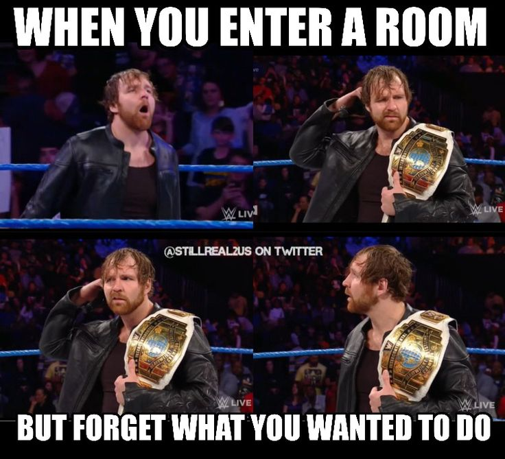Does this happen to anyone else besides Dean Ambrose?