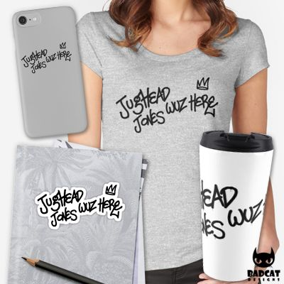 'Riverdale – Jughead Jones Wuz Here' design by hxvoltage, inspired by Jughead Jones from the new American teen drama television series based on the characters by Archie Comics. #Riverdale #JugheadJones #Tee #TShirt #Mug #Sticker #PhoneCase