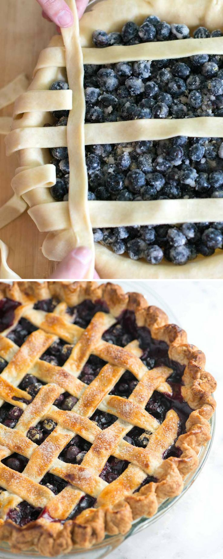 This is my favorite homemade blueberry pie recipe! It's made completely from scratch, but it's still so simple. (Plus, there's a tutorial for how to make a lattice crust which looks amazing on this pie)