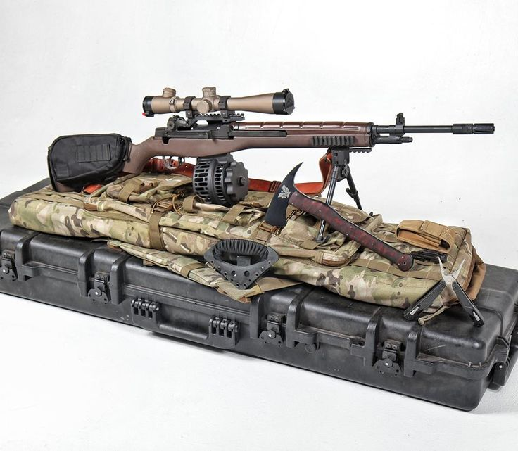 You need Crazyhorse in your life! This is the M14SE Crazyhorse Semiautomatic sniper system with Leupold Optics riflescope. We also added the X Products X14 drum. Winkler Knives & Gun Point retention tool & hatchet.