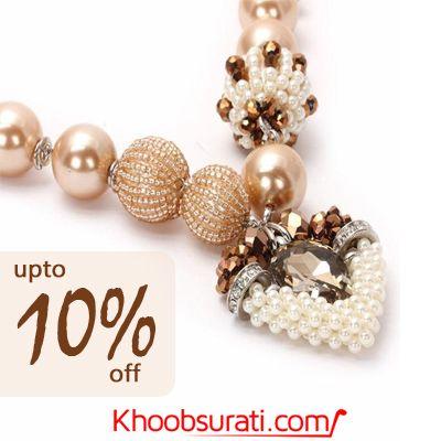 #Online_Shopping #Shopping_Online @ khoobsurati.com Get Upto 10% Off On #Neckstrings Visit:- http://khoobsurati.com/women/jewellery/neck-strings http://khoobsurati.com/pdt/khoobsurati/crystal-pendant-honeyloop-neck-string-silver