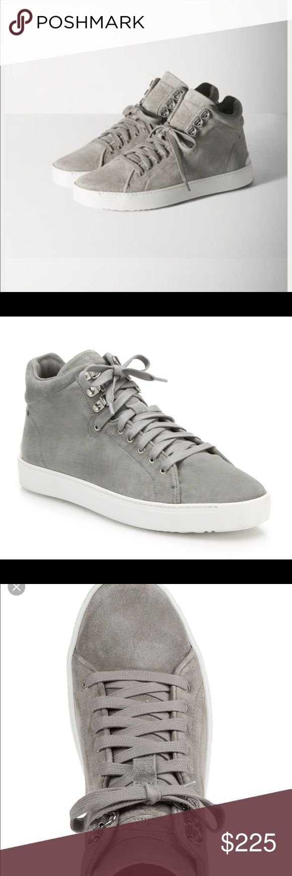 Rag and bone grey suede Kent high top sneakers Brand new never worn!  Such comfortable sneakers.  No trades! rag & bone Shoes Sneakers
