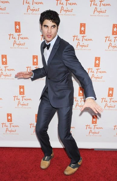 Darren Criss -- I love the suit and the shoes, but not together