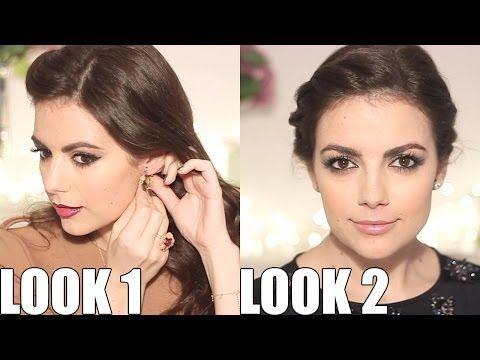2 maquillajes fáciles para estas fiestas - YouTube