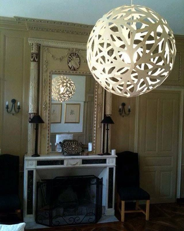1299 best modern bamboo pendant lighting by david trubridge images floral pendant light adds an modern element to this stately living room click image for aloadofball Images
