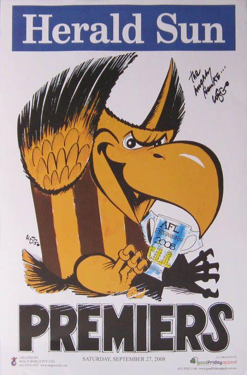 Hawthorn vs Geelong: WEG Premiership Poster 2008