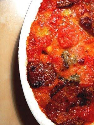 Italian Eggplant Parmigiana with Thermomix: Eggplant with Tomato and Cheese