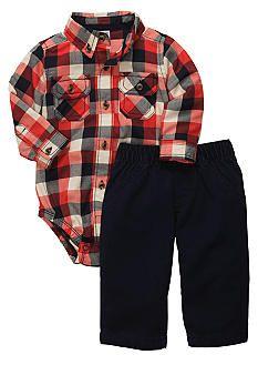 Carter's® Plaid Pant Set