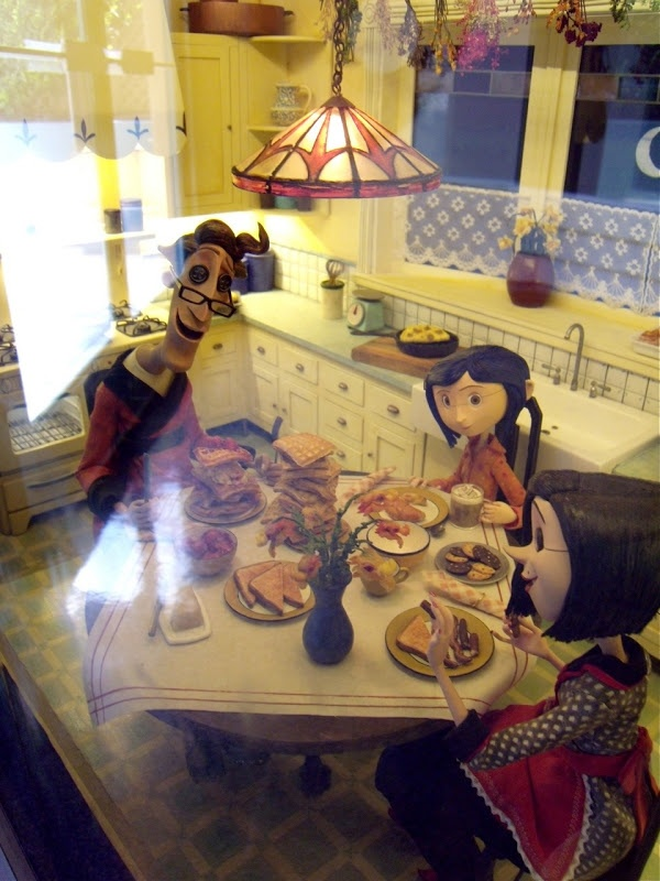 stop motion animation puppets   Coraline stop-motion animation puppets and sets on display...