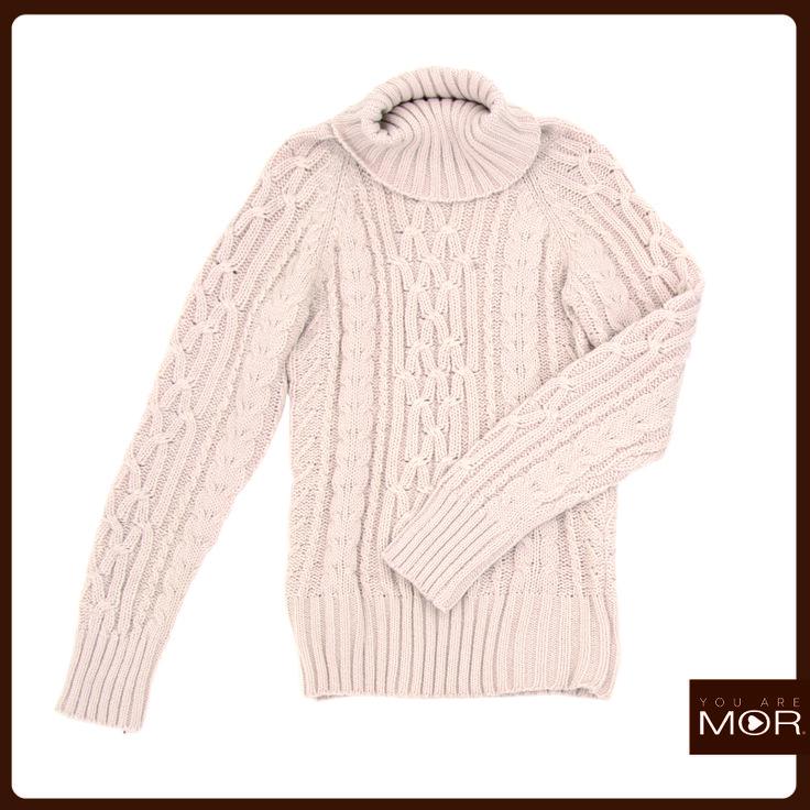 Sweater cuello alto beige Cód. 42233 / Precio $29,990