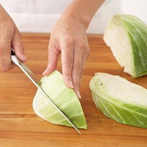 Ultraversatile cabbage can be boiled, steamed, sauteed, or cooked in the microwave oven. It makes a nutritious side dish or meatless entree. Learn how to core and cut cabbage, plus four ways to cook it.