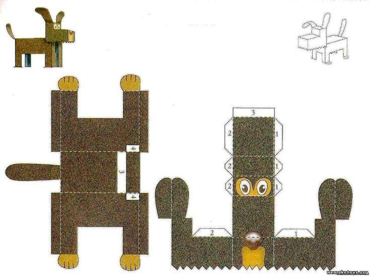 Игрушки и поделки своими руками - Бумажные игрушки с развертками