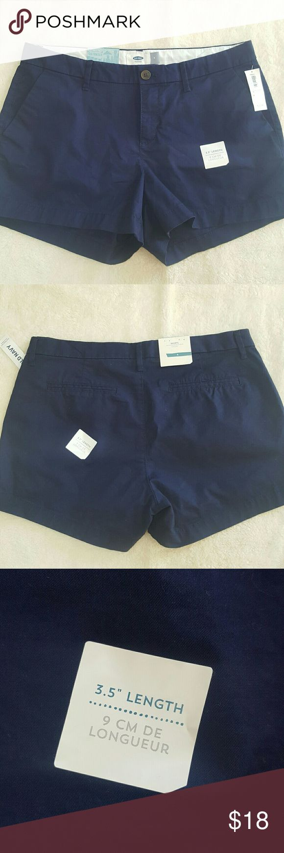 [Old Navy] Navy Blue Chino Shorts NWT Nice and neutral for summer! These are a 3.5 length inseam and brand new with tags.   Open to offers! Bundle and save 20%! Old Navy Shorts