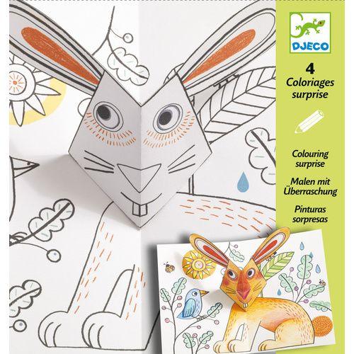 Bunny Up 3D-s színező Djeco | Pandatanoda