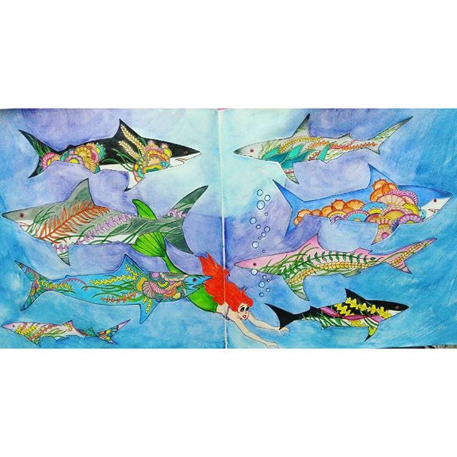 17 Best Images About Lost Ocean Pages 29 30 Sharks On
