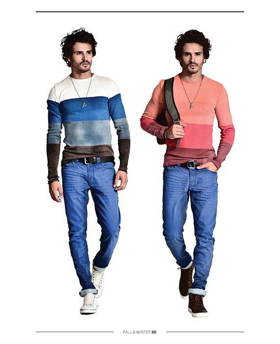 Look Book - Sergio K 2015 blusa top moderno color ambos com a mesma calça