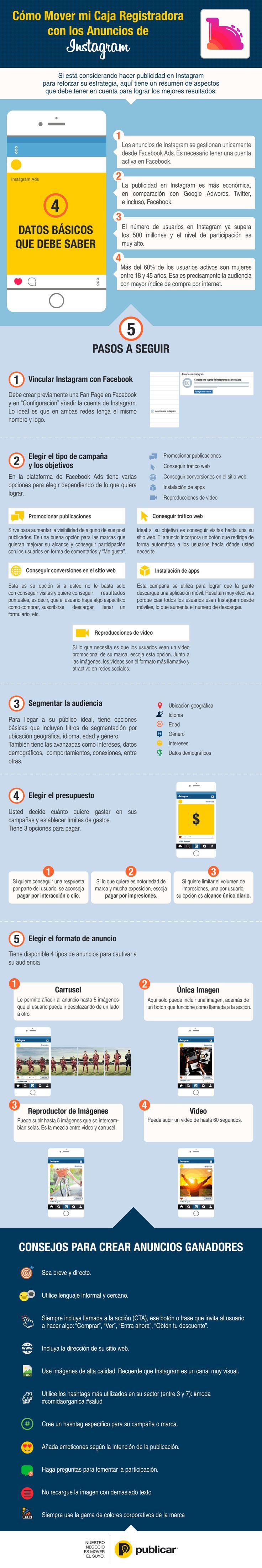 Cómo hacer caja con anuncios en Instagram #infografia