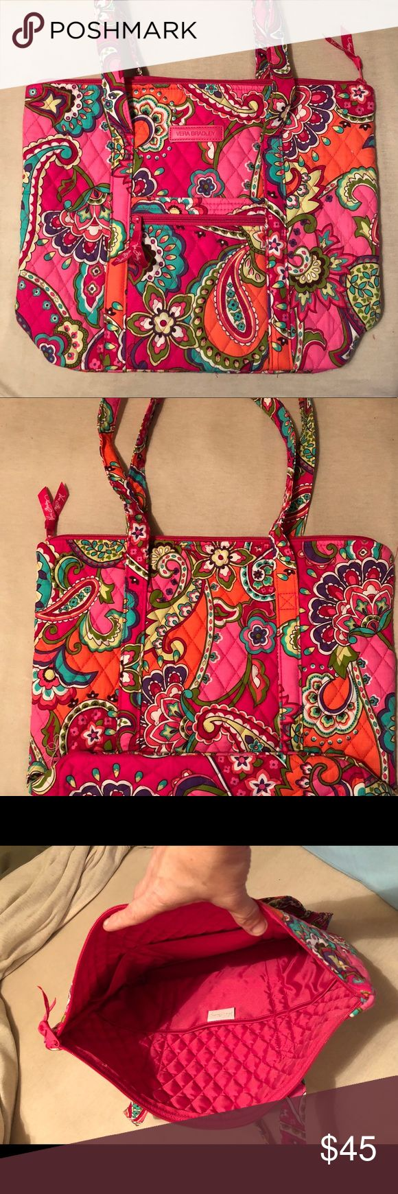 Vera Bradley Villager Shoulder Bag – Pink Swirls **SELLS FOR $68.00 IN STORE**  ** Cross-listed on three sites...will delete if it sells on another site. **  I bought this last Summer with my birthday discount at my local Vera Bradley store. I thought I'd like the pattern more than I do.  This is a brand new bag, still laying flat, I've never even put anything in it. Bags Shoulder Bags