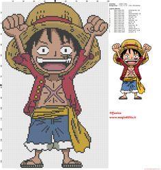 Monkey D. Luffy (One Piece) cross stitch pattern