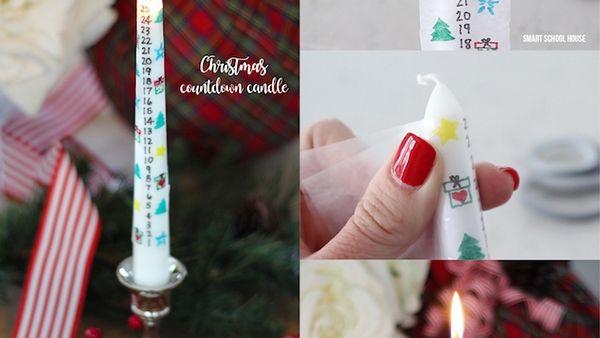 """Μια """"ζεστή"""" ιδέα για την οικογένειά σας: Φτιάξτε ένα κερί Αντίστροφης Μέτρησης για τα Χριστούγεννα!"""