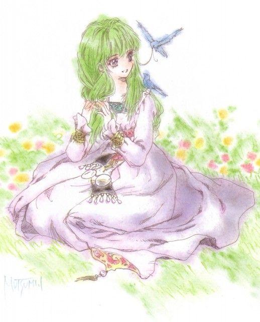 """Art from """"Tales Of Destiny"""" game by manga artist Mutsumi Inomata."""