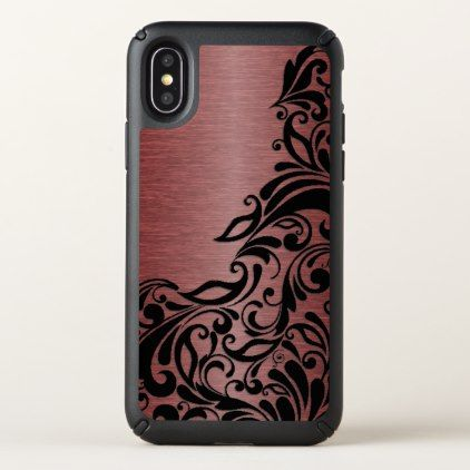 Classy Chic Elegant Paisley Damask Floral Pattern Speck iPhone X Case - vintage gifts retro ideas cyo